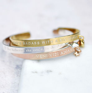 Create Your Own Personality Mantra Bracelet - gifts for teenage girls