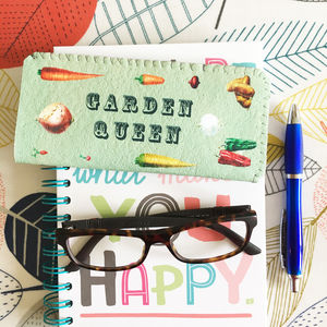 Garden Queen Glasses Case