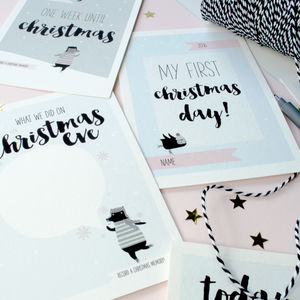 First Christmas Milestone Card Keepsake Set
