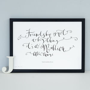 Personalised Print 'Friendship Is Not A Big Thing'
