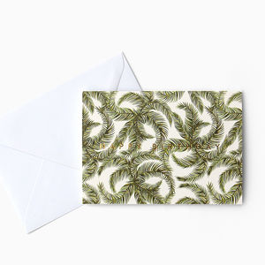 Tropical Palm Leaf Birthday Card With Gold Foiling