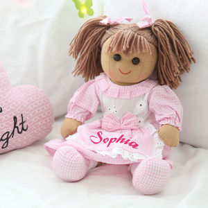 Gingham Rag Doll - gifts: under £25