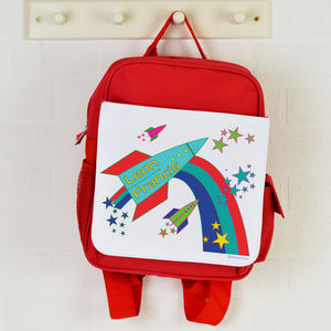 Personalised Backpack Rockets - back to school essentials