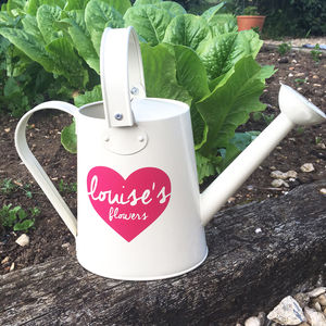 Personalised Cream Watering Can - garden accessories