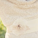 Juliette Lace Handmade Floral Wedding Sash