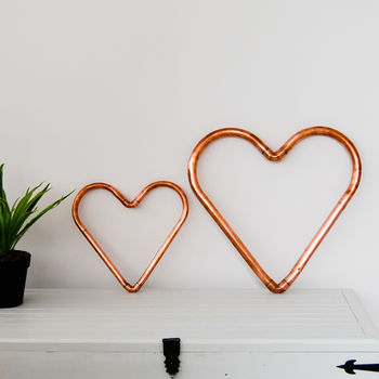 Handmade Copper Heart Decoration