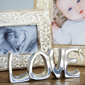 Recycled Stainless Steel LOVE Sign