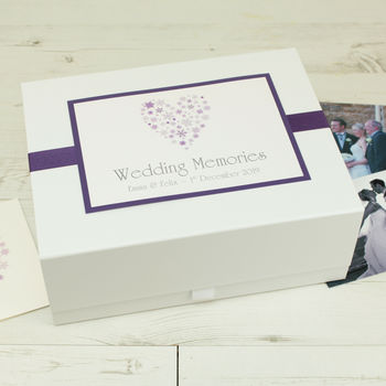 Personalised Ice Wedding Memory Box