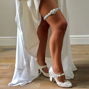 Ophelia Satin And Crystal Bridal Garter
