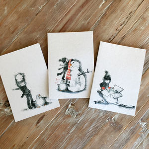 Katie And Penguin Notebooks - summer sale