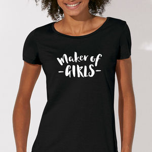 Mother's Day 'Maker Of Girls' Organic Top - tops & t-shirts