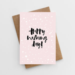 'Happy Naming Day' Girl's Naming Day Card