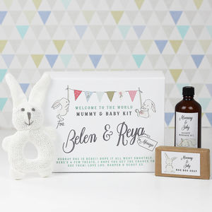 Personalised New Baby And Mummy Gift Set - baby shower gifts & ideas