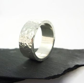 Polished Sterling Silver Ring 8mm