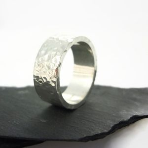 Polished Sterling Silver Ring 8mm - rings
