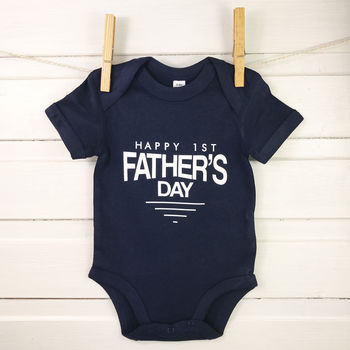 Happy 1st Father's Day Badge Babygrow