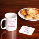 Personalised 'Future Mrs' Matching Mug And Coaster Set