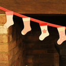Christmas Stocking Appliquéd Bunting