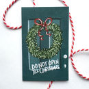 Hand Illustrated 'Wreath And Door' Christmas Gift Cards