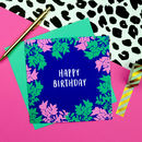 Pastel Leaves Birthday Card