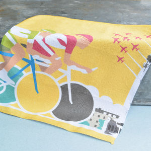 Tour De France Cycling Flannel - sponges & flannels