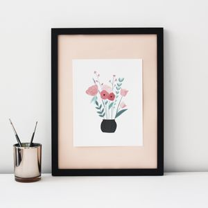 Flower Vase Art Print - posters & prints