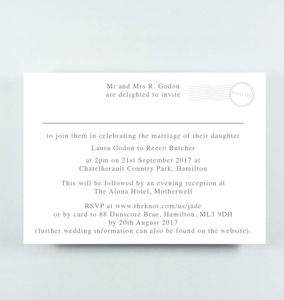 map wedding invitation \'jade\' by paper and inc | notonthehighstreet.com