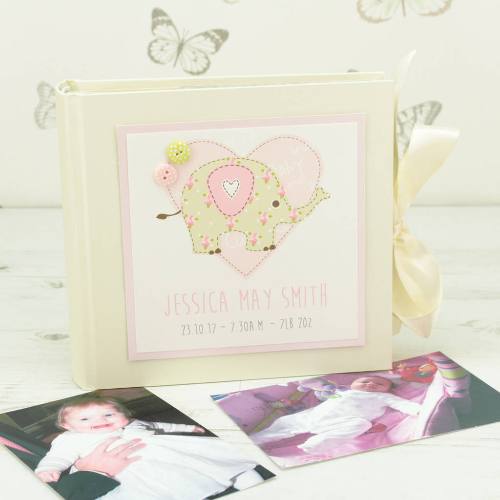 Personalised Elephant Baby Photo Album