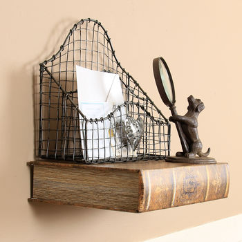 Antique Effect Floating Bookshelf