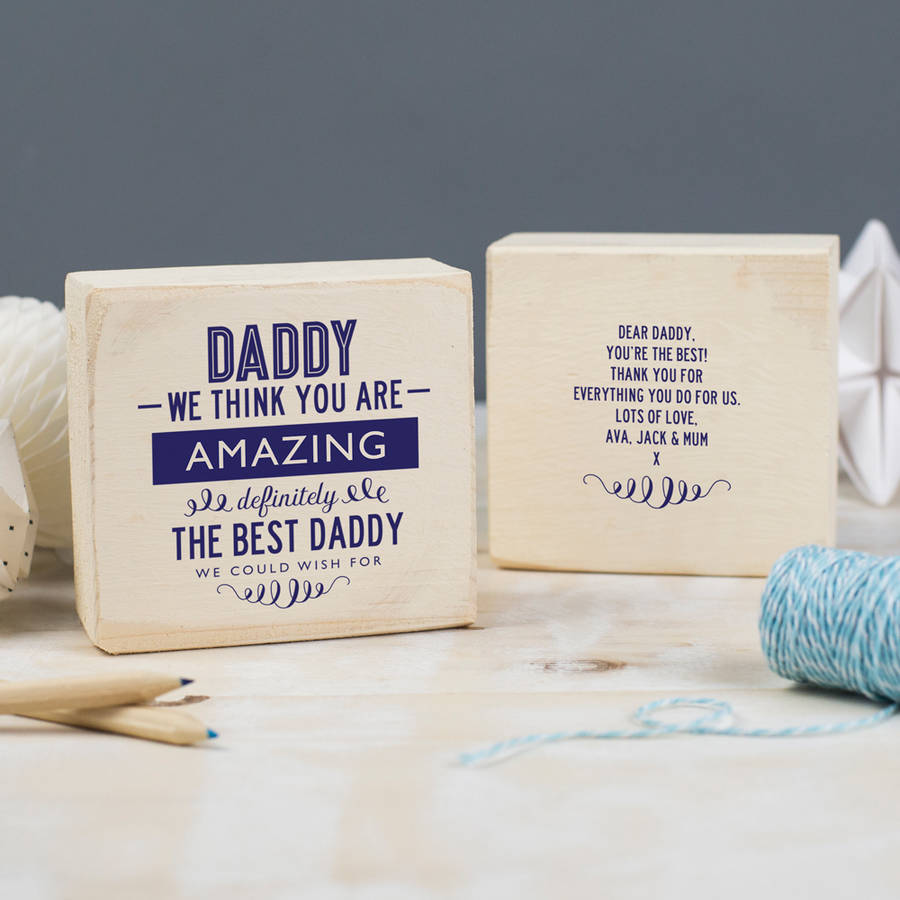 Personalised Fathers Day Keepsake Gift