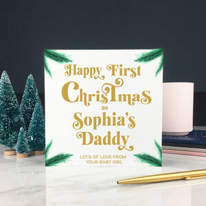 Personalised First Christmas Card As Mummy Or Daddy