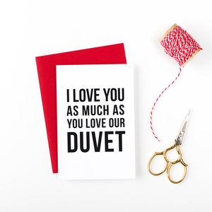 Duvet Lover Valentines Anniversary Card - cards & wrap
