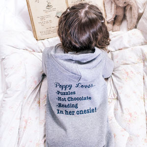 Personalised Kids My Favourite Things Onesie - children's nightwear