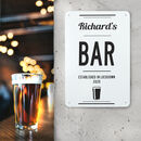 Personalised Bar Metal Sign