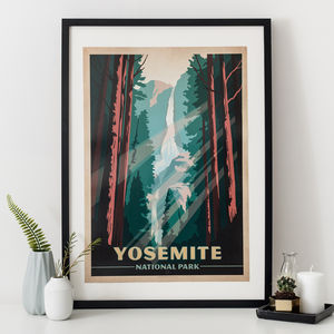 Yosemite National Park Travel Print - modern & abstract