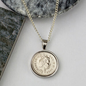 21st Birthday 1999 Five Pence 5p Coin Necklace Pendant