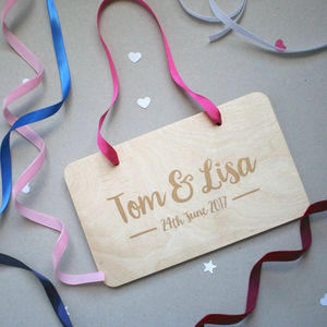 Personalised Hanging Wedding Sign - decorative accessories