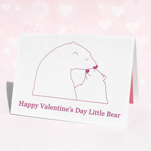 Personalised Polar Bear Valentine's Day Card - birthday cards