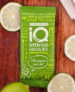 Lime Organic Raw Chocolate Bar - low sugar gifts