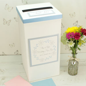 Personalised Winter Snowflake Wedding Post Box - styling your day sale