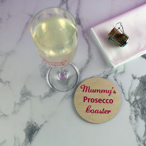 Coloured Wooden Prosecco Coaster
