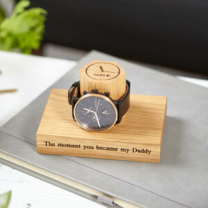 Personalised Time And Date Of Birth Watch Stand