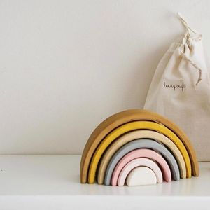 'Sand' Small Wooden Stacking Rainbow