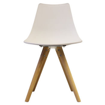 Oslo Chair With Wooden Legs White