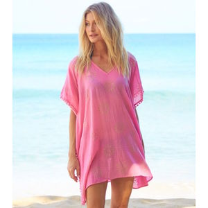 Kiki Sun Beach Kaftan Bright Pink - tops & t-shirts