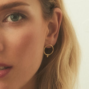 Minimal Classic Hoop Ball Circle Stud Earrings