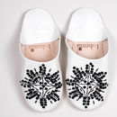 Leather Sequin Babouche Slippers