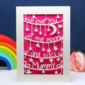 'To The Moon And Back' Personalised Mother's Day Card