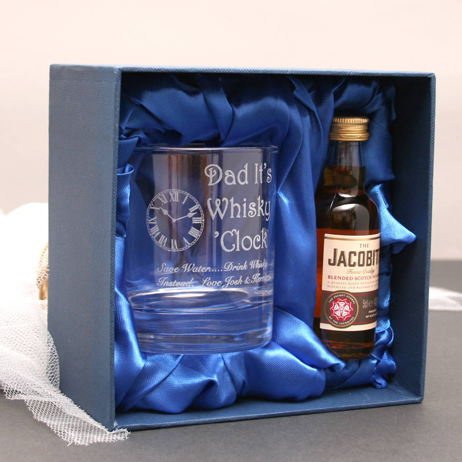 Personalised Dad's Whiskey Gift Set