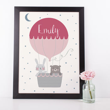 Up Up And Away Air Balloon Nursery Print